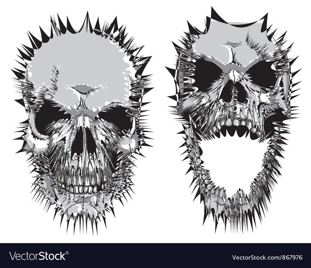 Stylized skulls vector | Price: 1 Credit (USD $1)