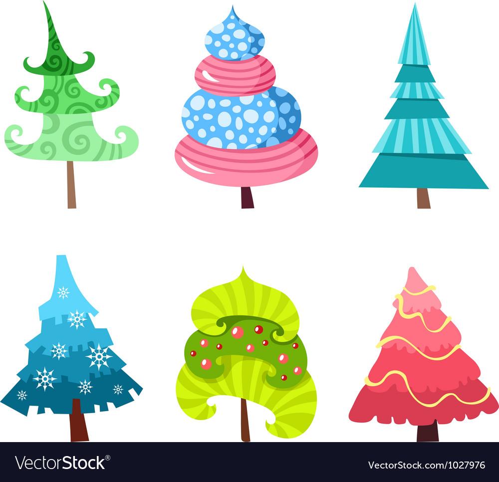 Tree set vector | Price: 1 Credit (USD $1)