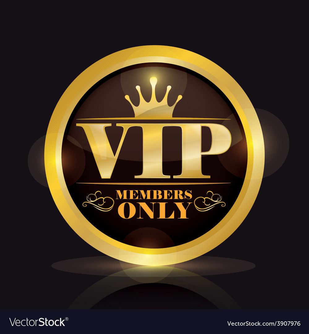 Vip member vector | Price: 1 Credit (USD $1)