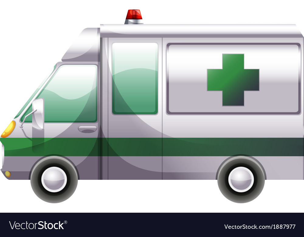 A hospital ambulance vector | Price: 3 Credit (USD $3)
