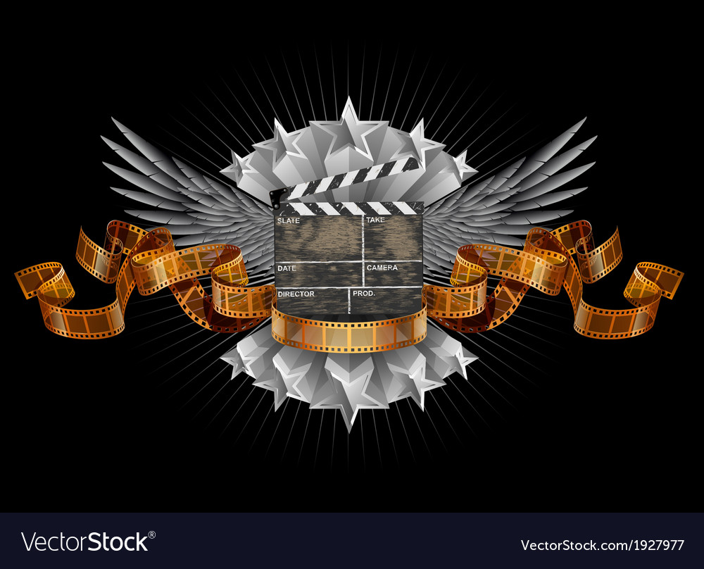Coat of arms film clapper vector | Price: 1 Credit (USD $1)