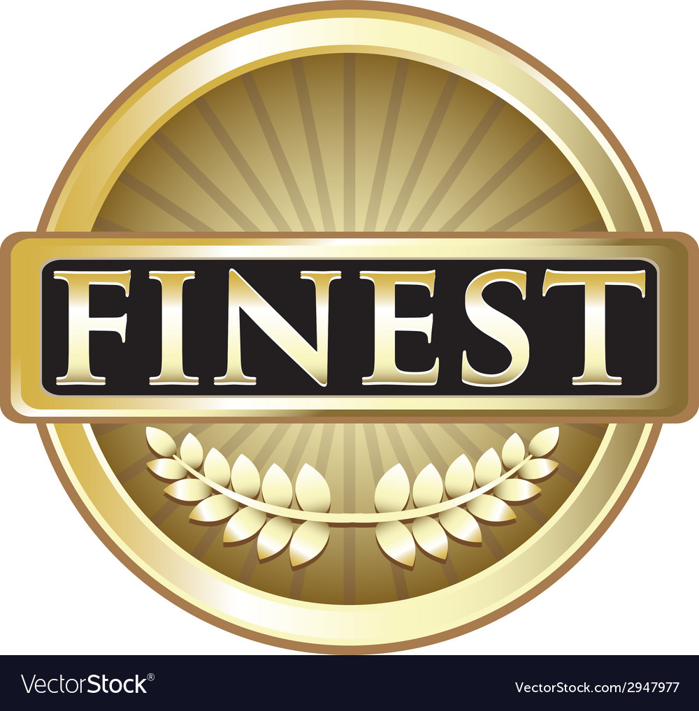 Finest pure gold label vector | Price: 1 Credit (USD $1)