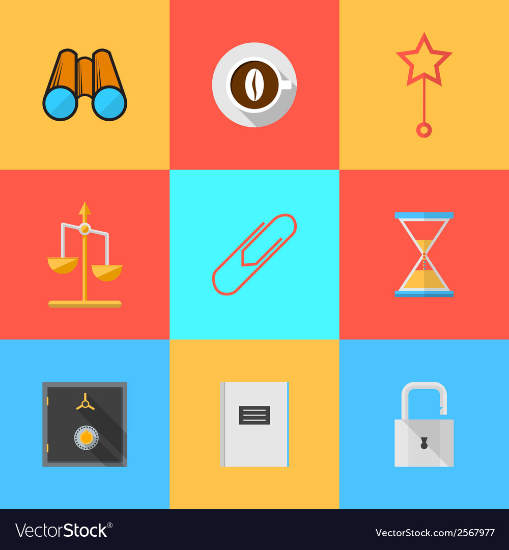 Flat icons for organization of outsourced vector | Price: 1 Credit (USD $1)