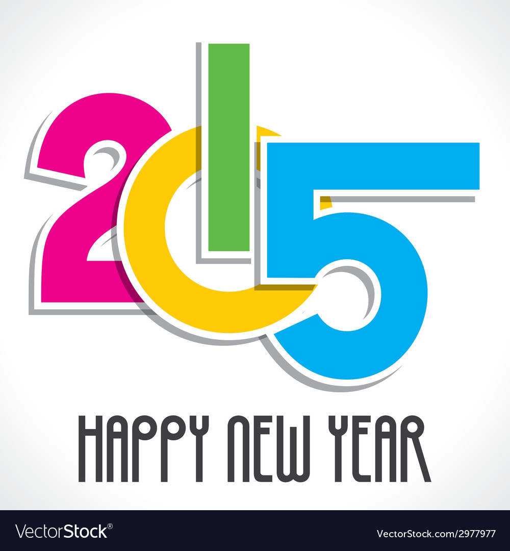 Happy new year greeting 2015 vector | Price: 1 Credit (USD $1)