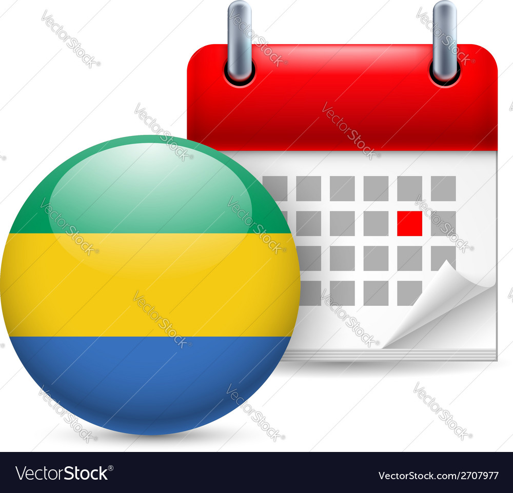 Icon of national day in gabon vector | Price: 1 Credit (USD $1)