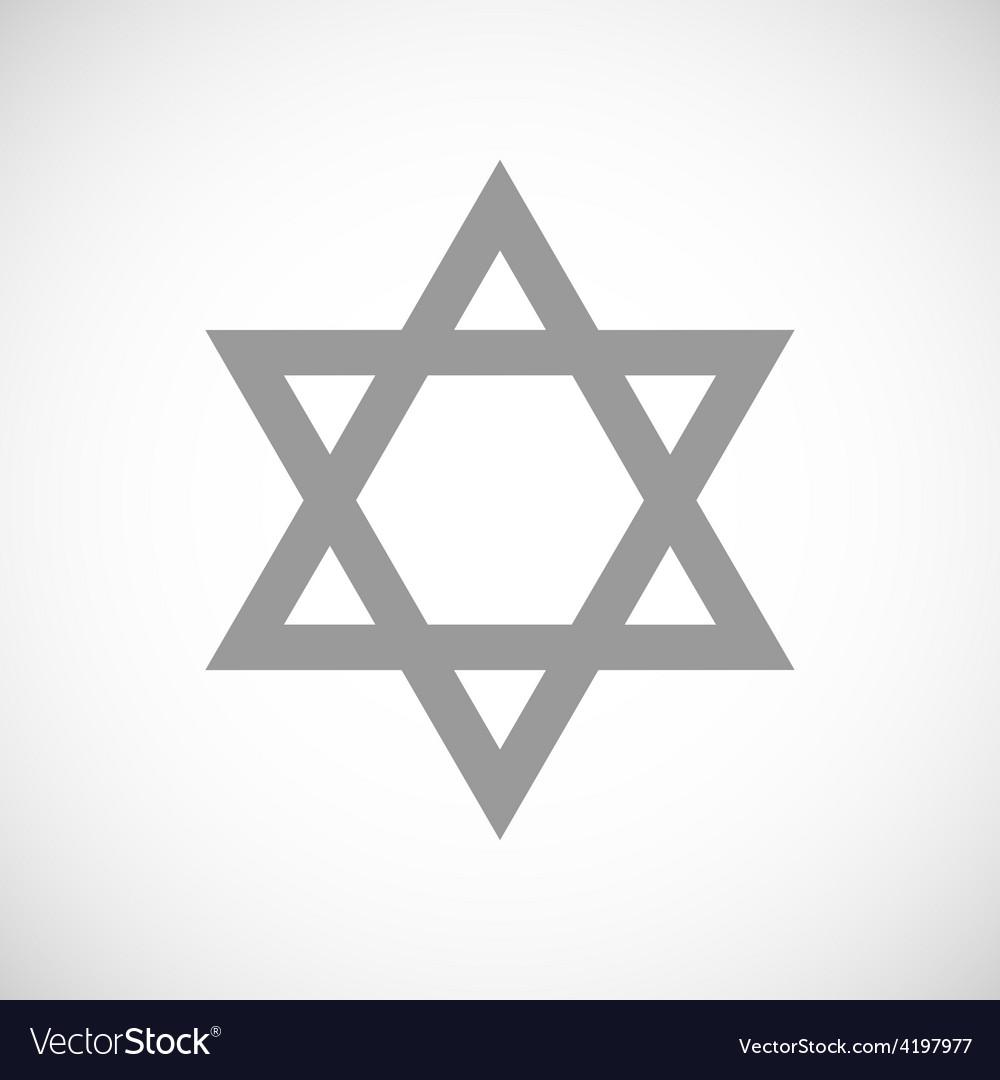 Judaism black icon vector | Price: 1 Credit (USD $1)