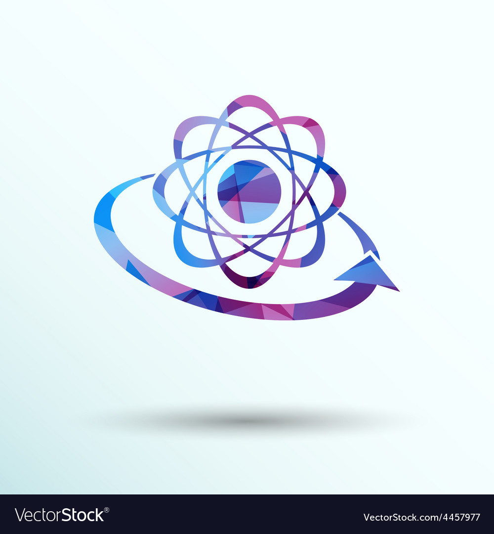 Molecular compound icon chemistry molecular vector | Price: 1 Credit (USD $1)