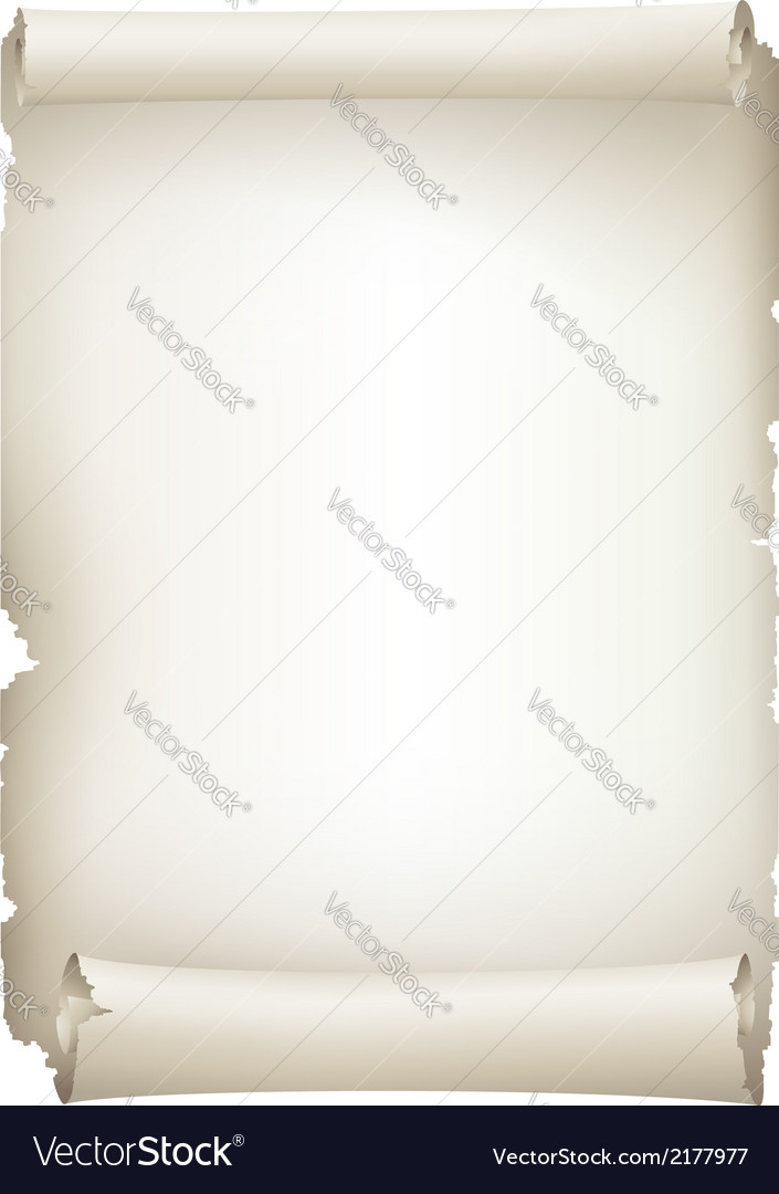 Old paper scroll banner vector | Price: 1 Credit (USD $1)