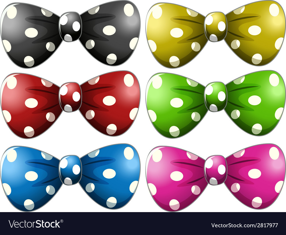 Polkadot bow tie vector | Price: 1 Credit (USD $1)