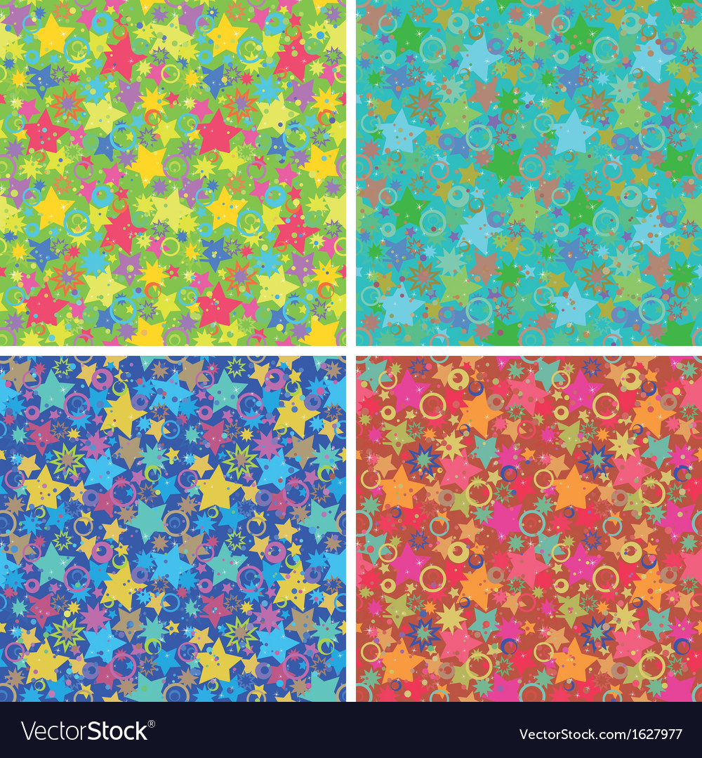 Seamless backgrounds stars vector | Price: 1 Credit (USD $1)