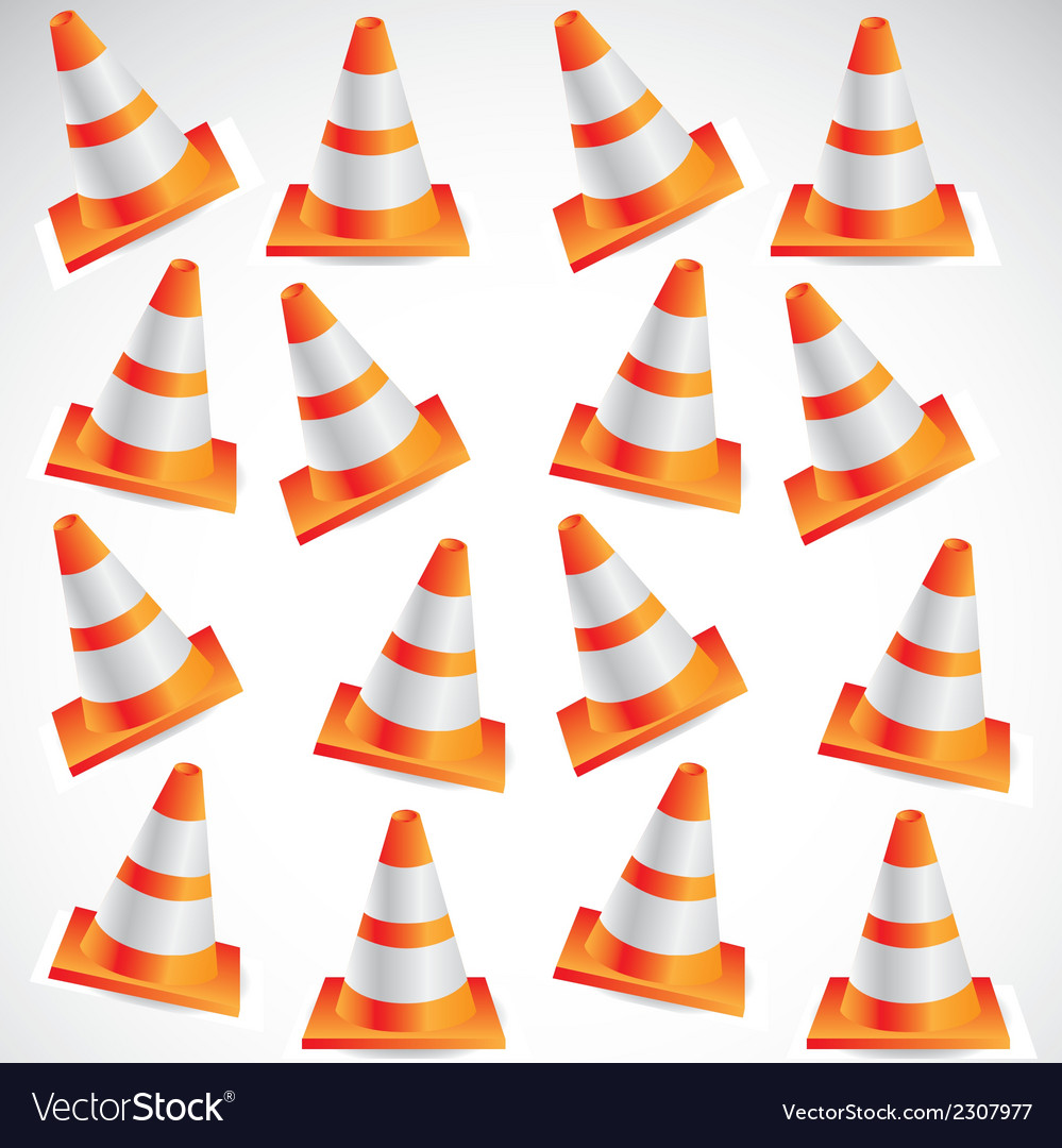 Traffic cones vector | Price: 1 Credit (USD $1)