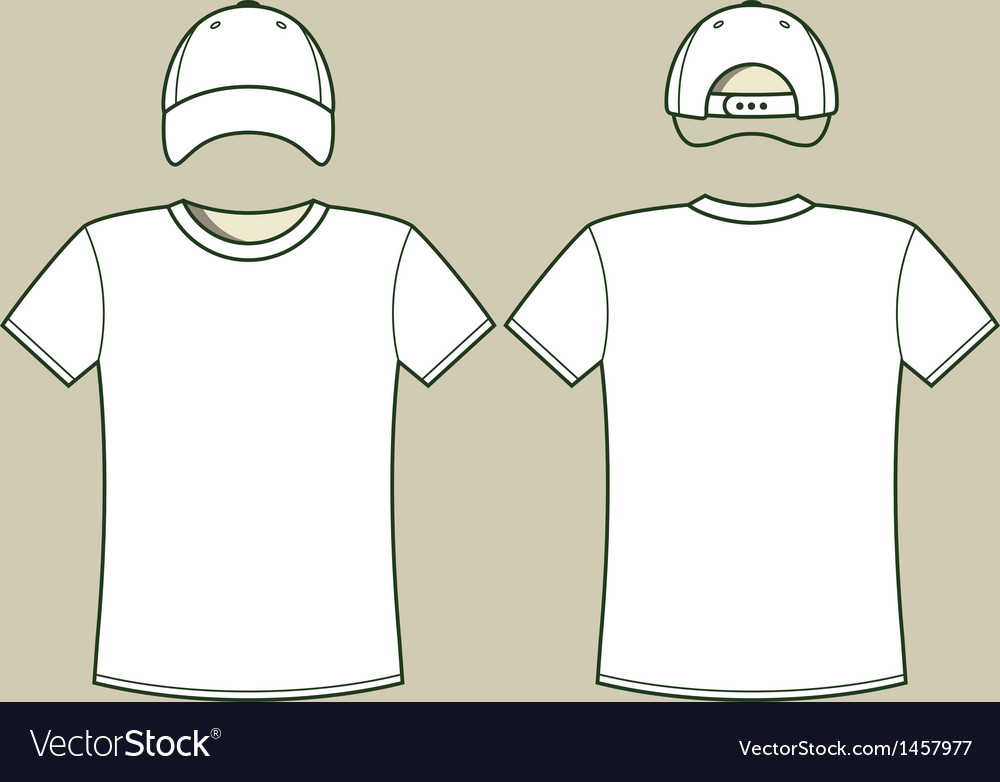 T-shirt and cap template vector | Price: 1 Credit (USD $1)