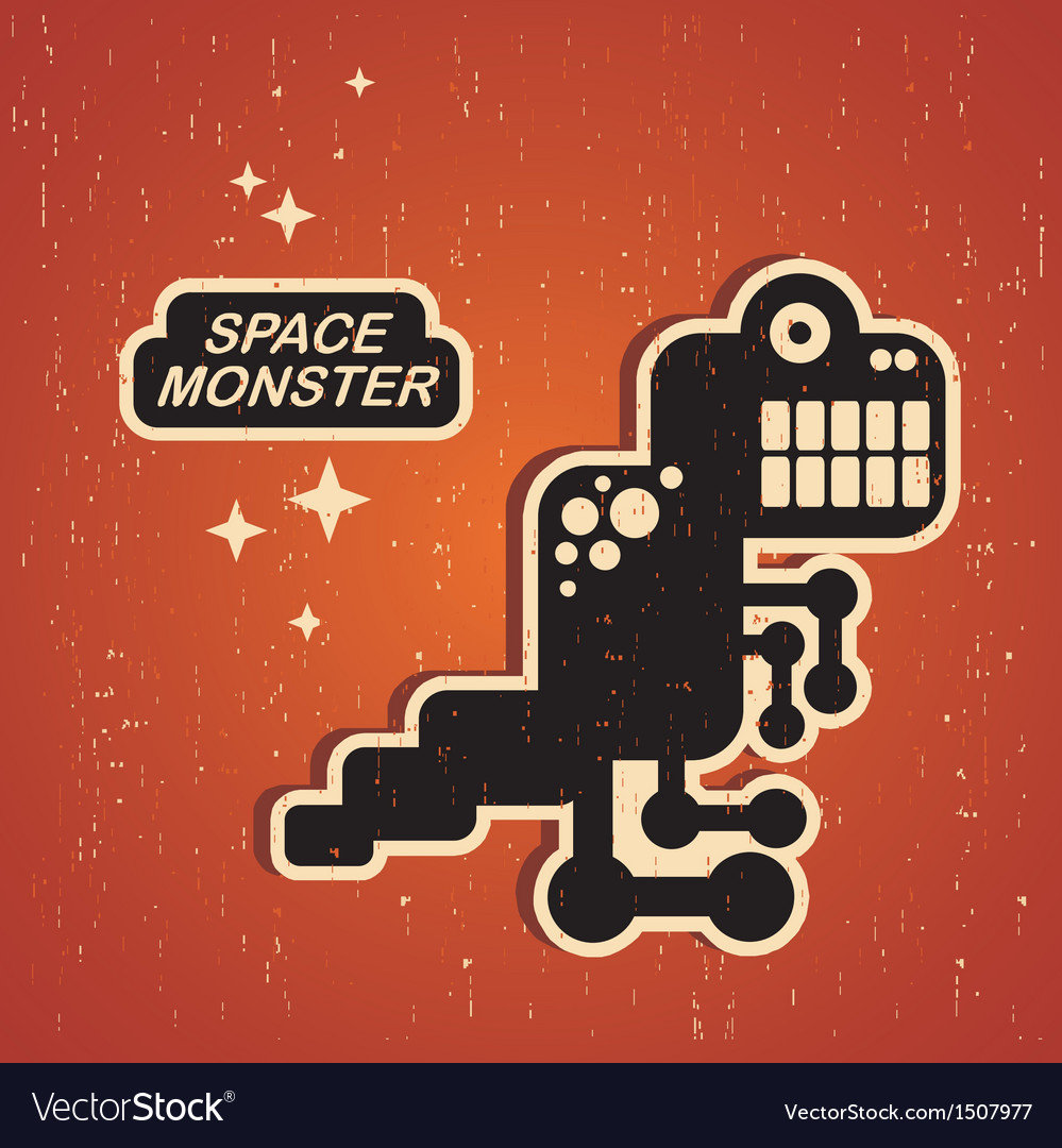 Vintage monster vector | Price: 1 Credit (USD $1)