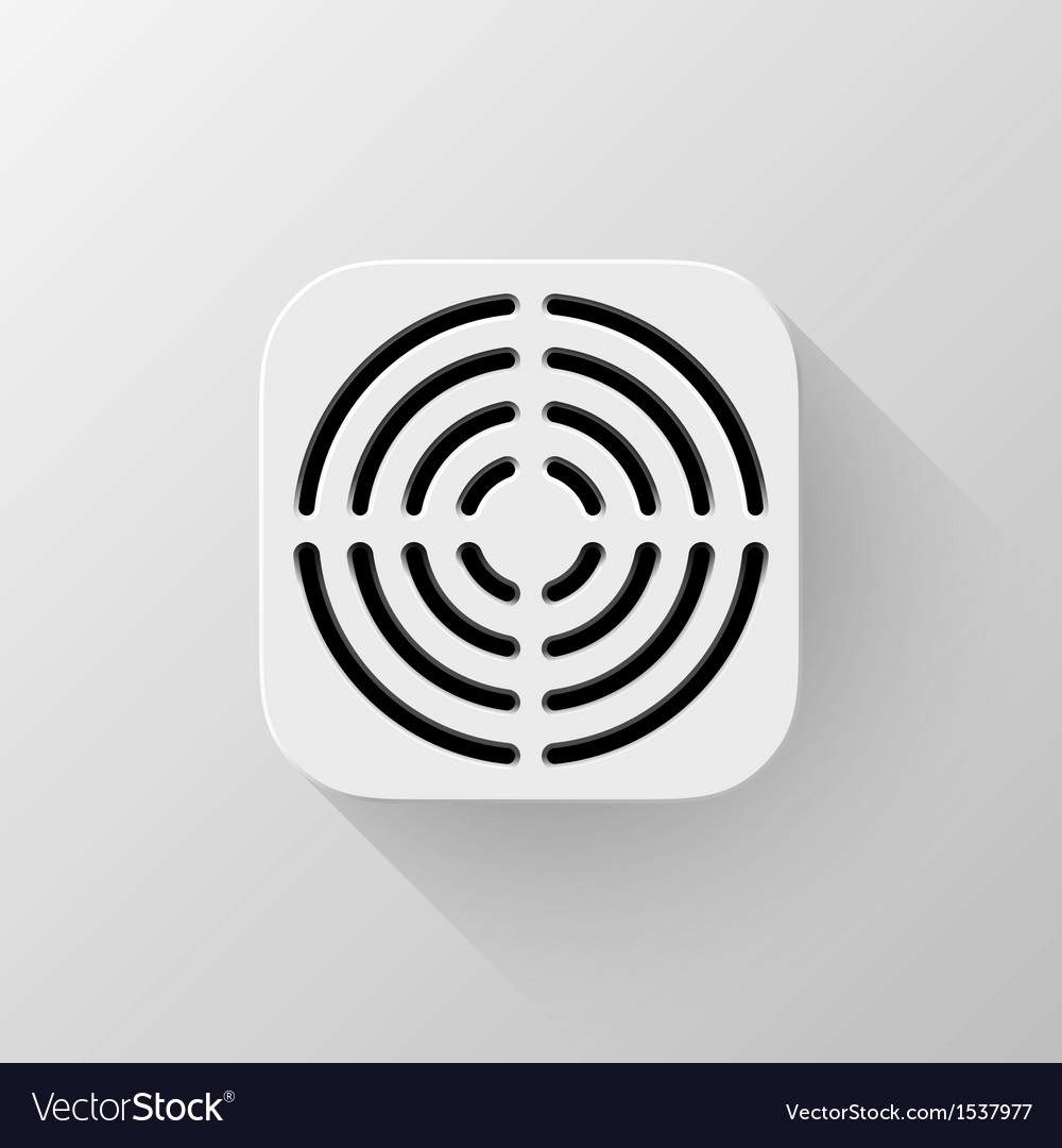White technology app icon template vector | Price: 1 Credit (USD $1)