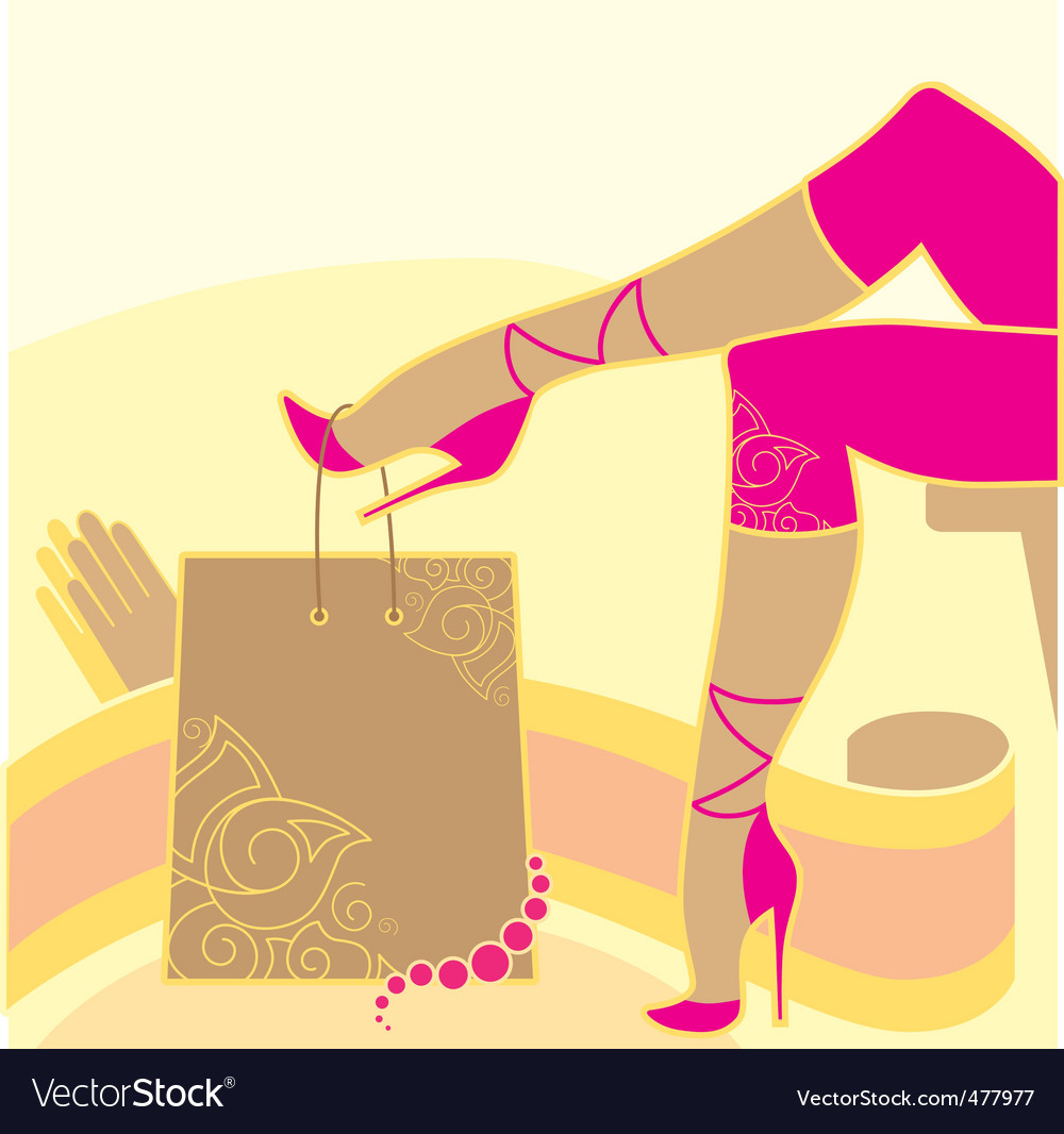 Woman legs and accessories vector | Price: 1 Credit (USD $1)