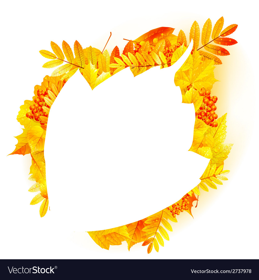 Autumn abstract floral background with copyspace vector | Price: 1 Credit (USD $1)
