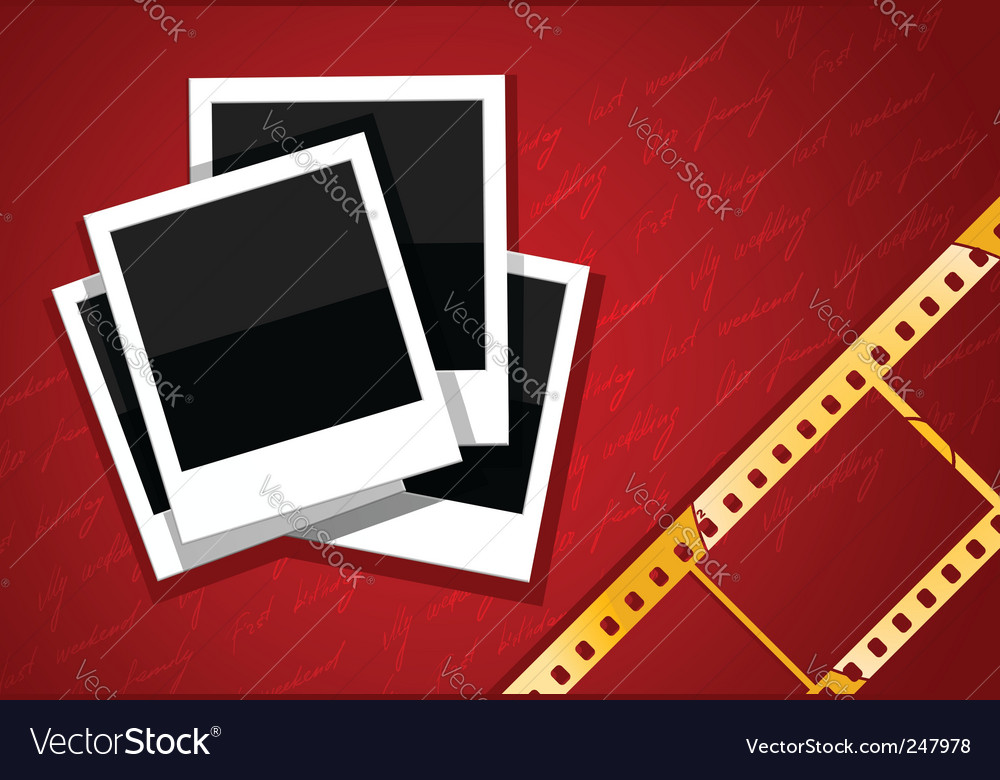 Film and camera background vector | Price: 3 Credit (USD $3)