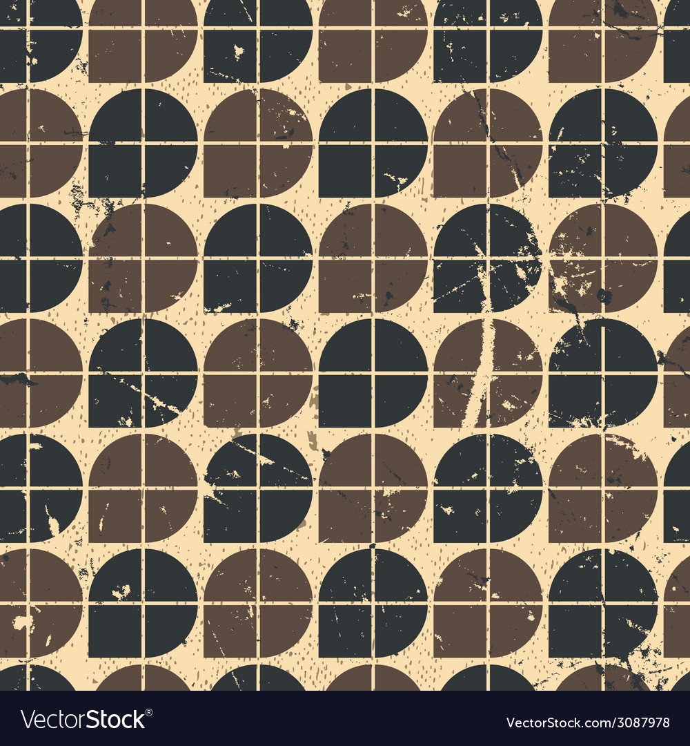 Geometric seamless pattern with mess aged texture vector | Price: 1 Credit (USD $1)