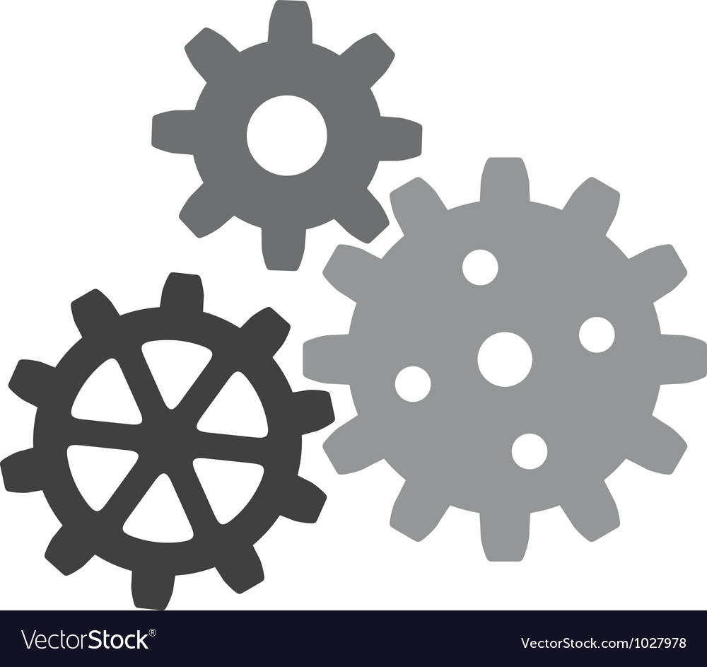 Growing gears vector | Price: 1 Credit (USD $1)