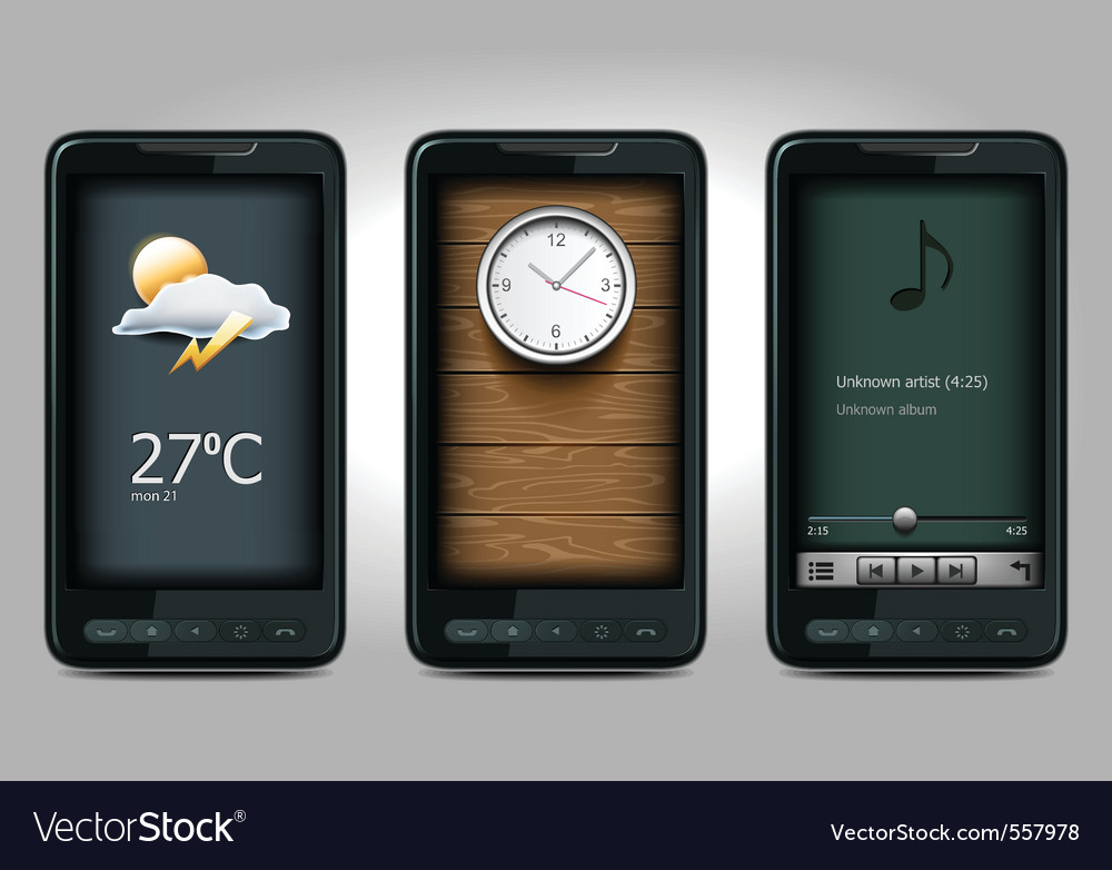 Mobiles icons vector | Price: 3 Credit (USD $3)