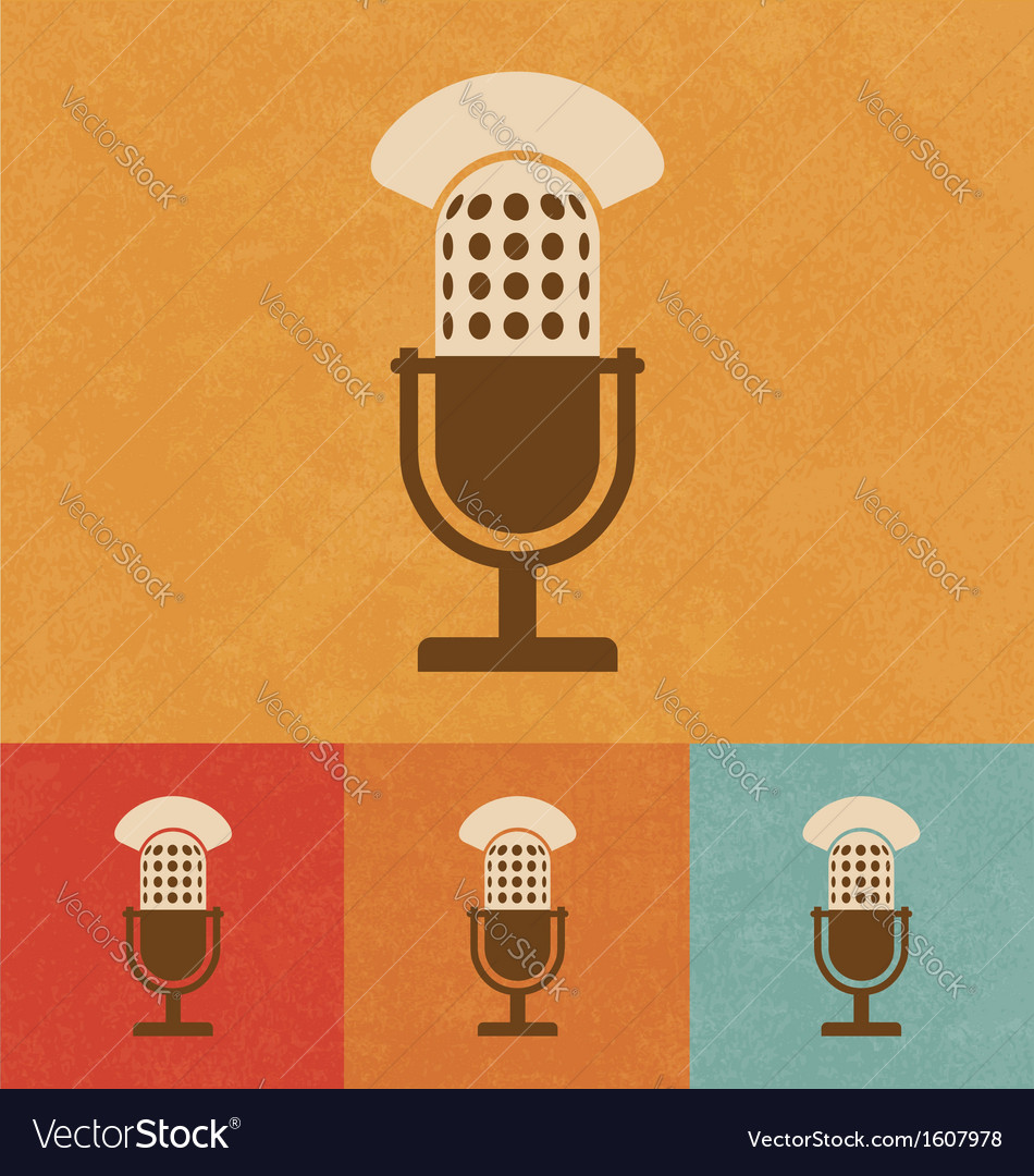 Old microphone vector | Price: 1 Credit (USD $1)