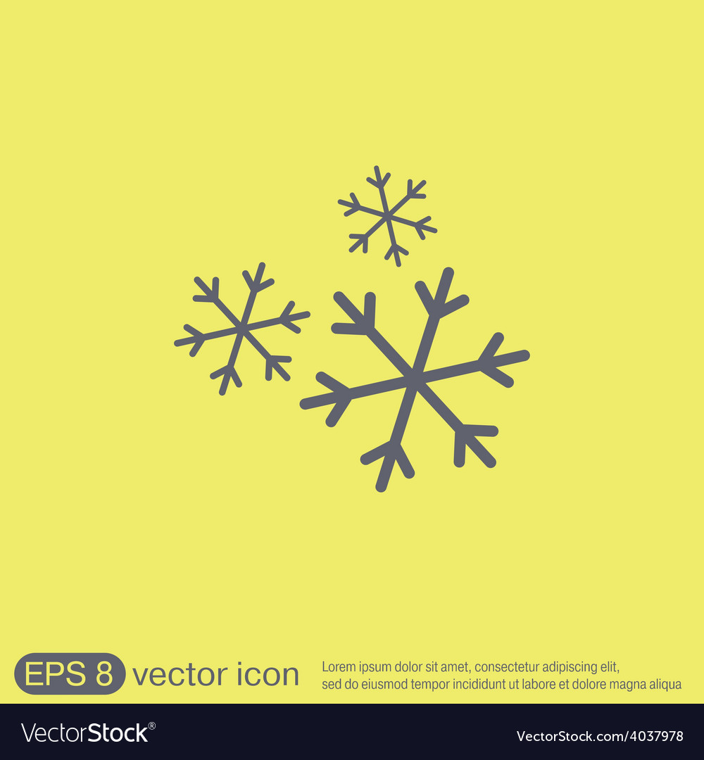 Weather icon snowflake sign vector | Price: 1 Credit (USD $1)