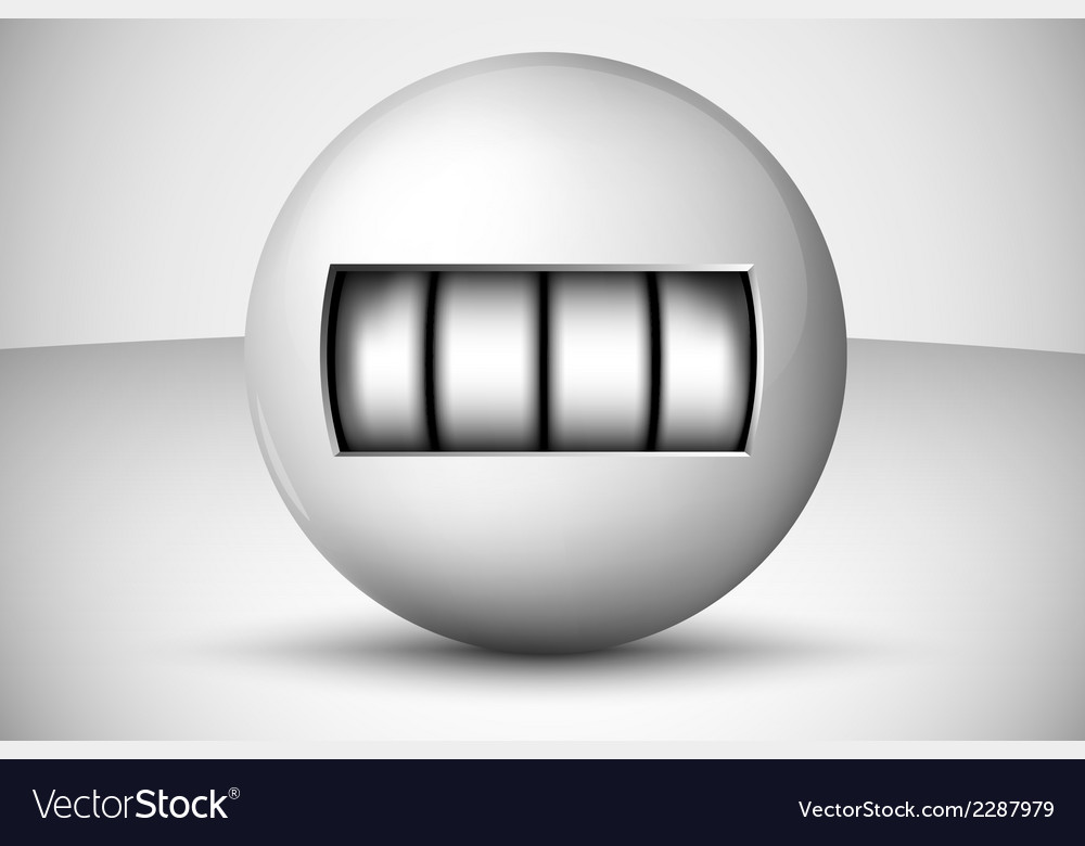 Ball with numbers counter vector | Price: 1 Credit (USD $1)