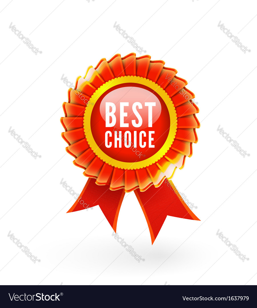 Best choice red label with ribbons vector | Price: 1 Credit (USD $1)