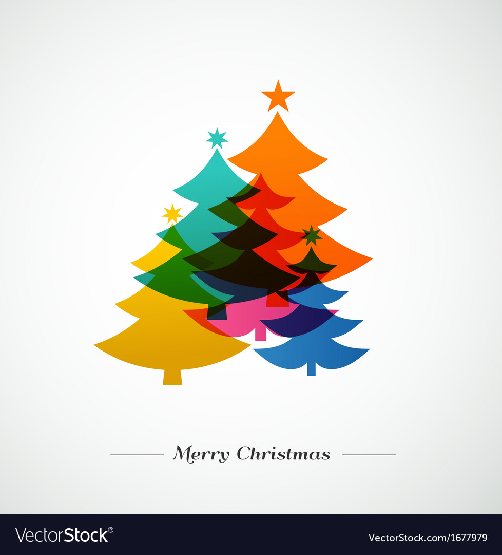 Christmas trees - colorful background vector   Price: 1 Credit (USD $1)