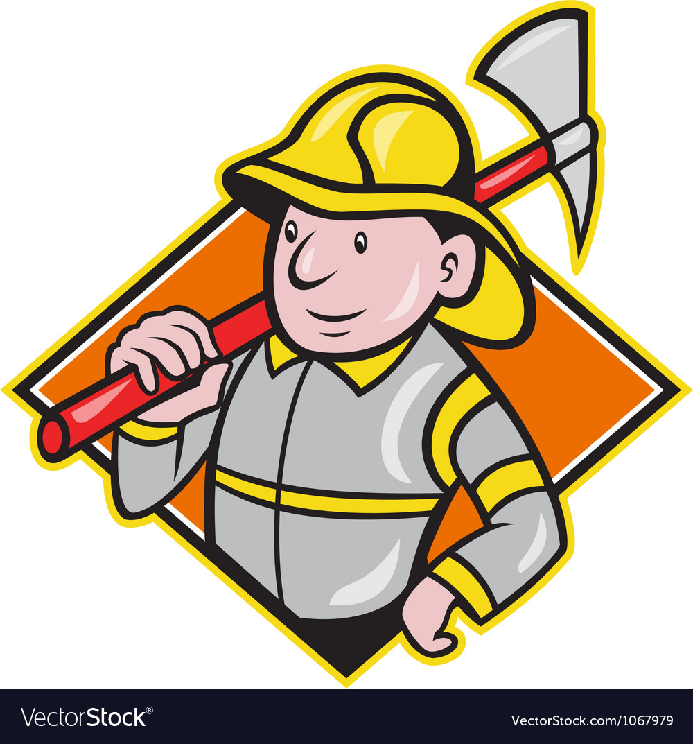 Fireman firefighter emergency worker vector | Price: 3 Credit (USD $3)