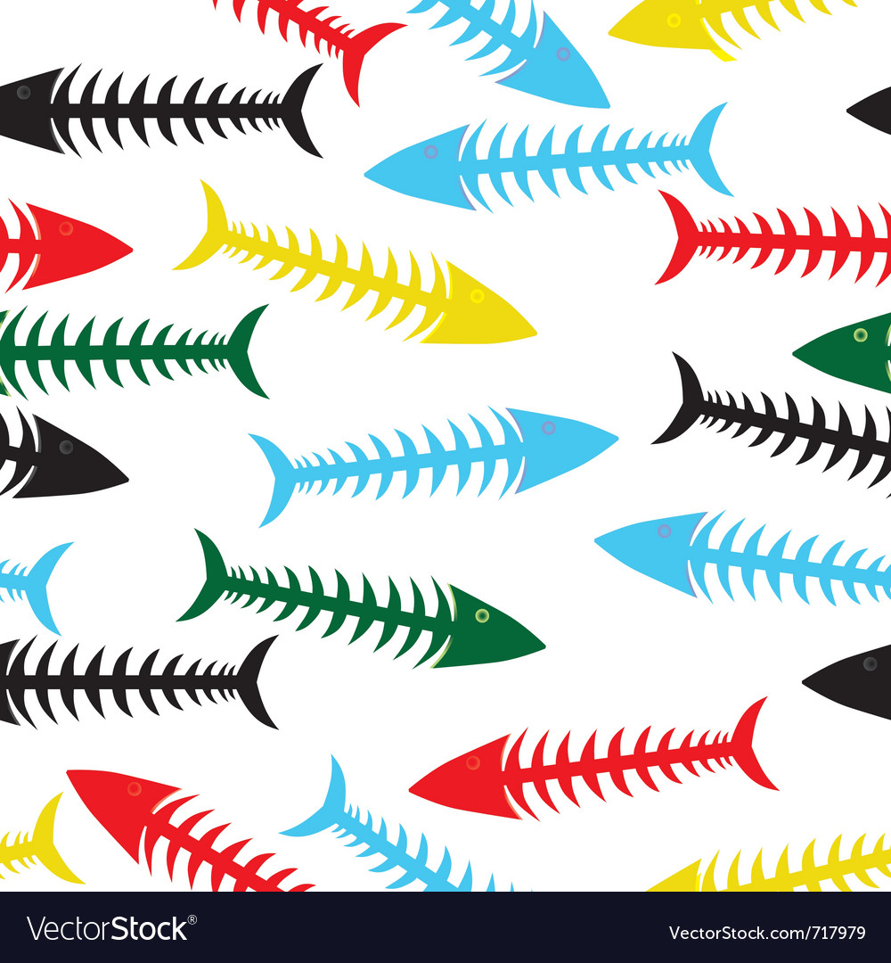 Fishbone background vector | Price: 1 Credit (USD $1)