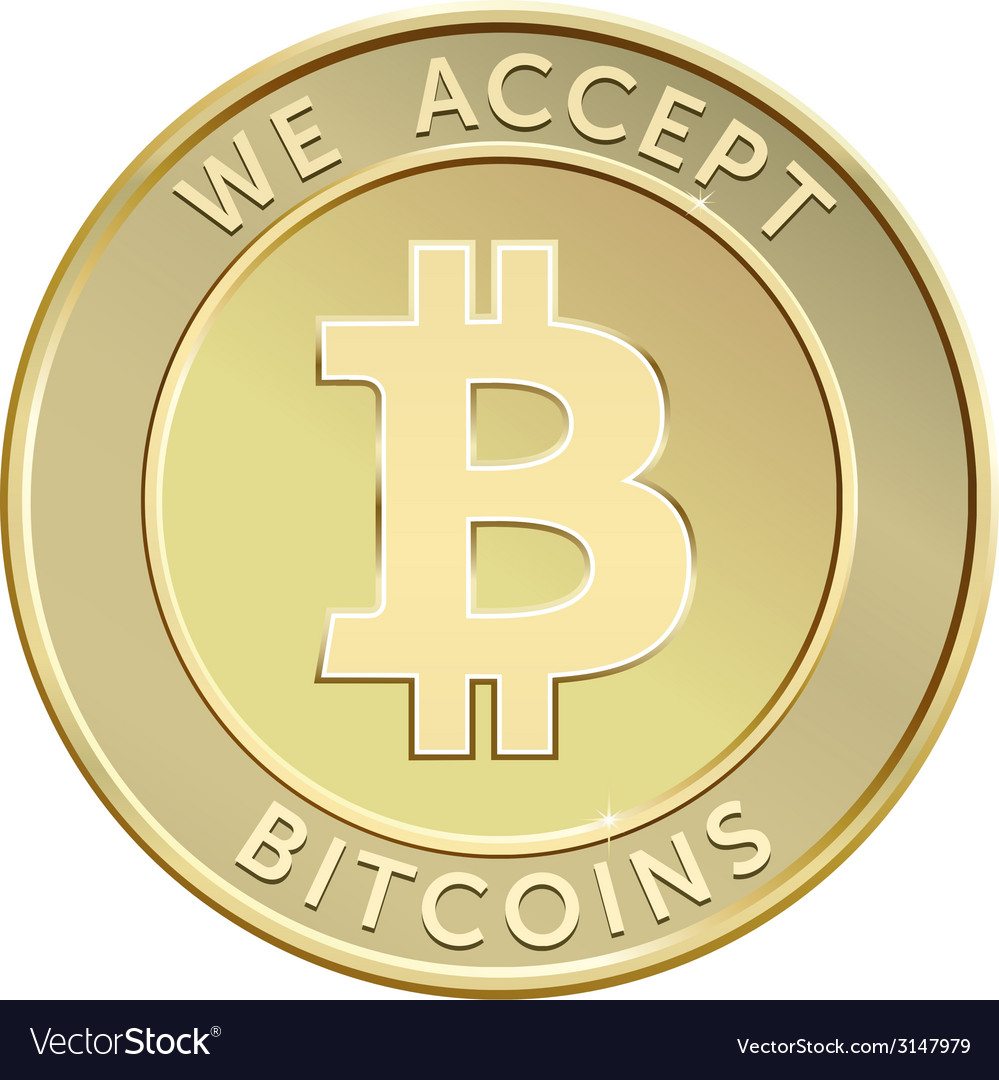 Golden bitcoin vector | Price: 1 Credit (USD $1)
