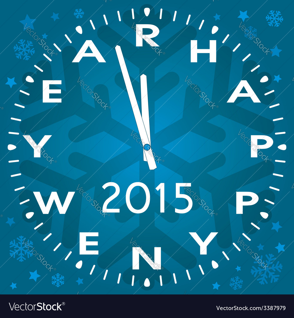 Happy new year symbol of clock vector | Price: 1 Credit (USD $1)