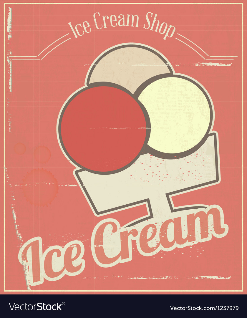 Ice cream card vector | Price: 1 Credit (USD $1)
