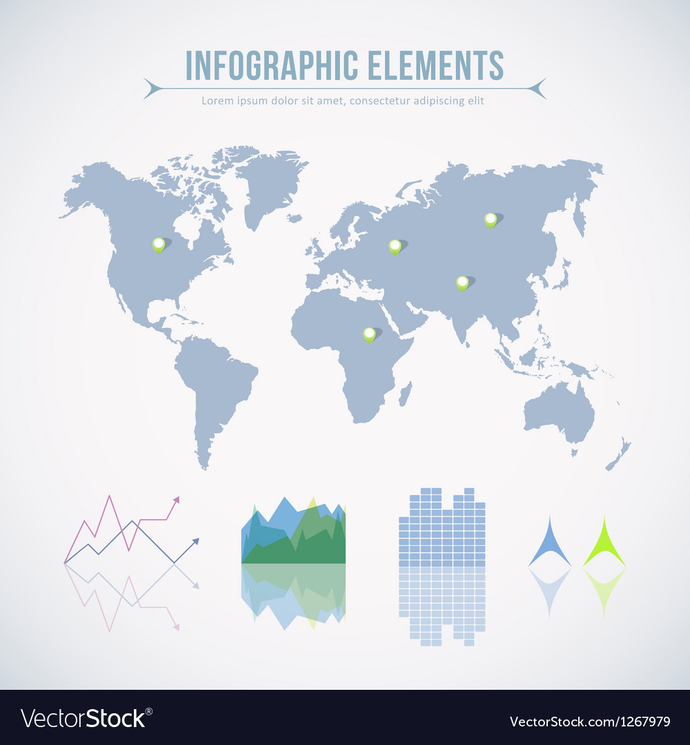 Info graphic elements vector | Price: 1 Credit (USD $1)