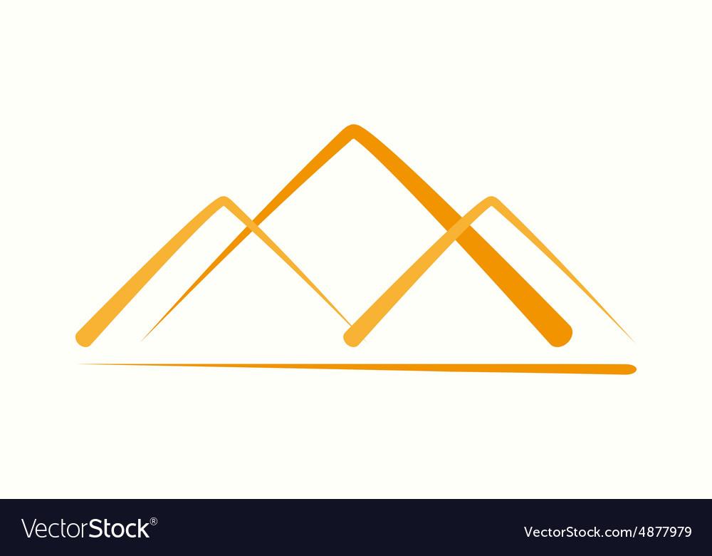Logo design element pyramid mountain vector