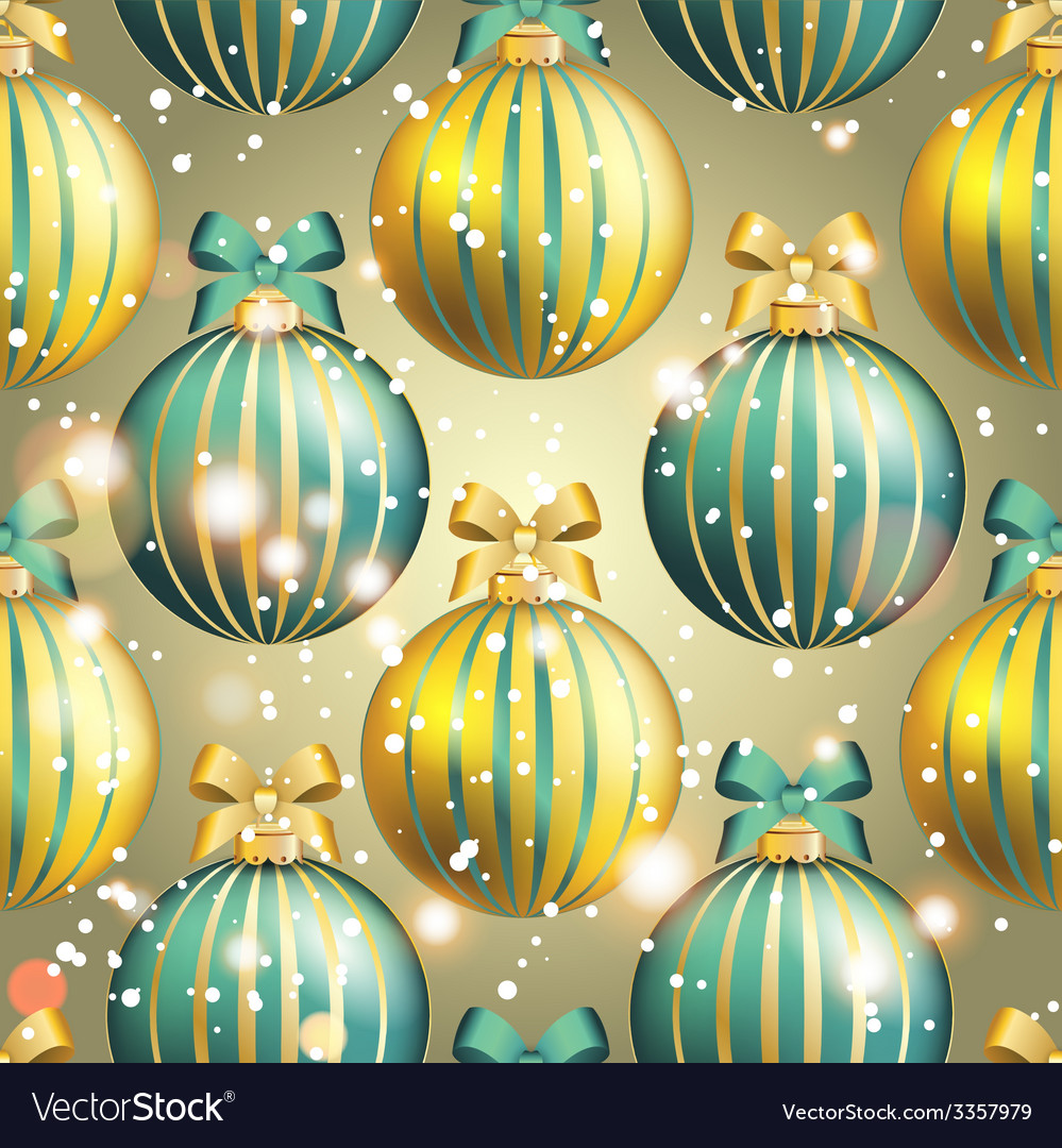 New year pattern with ball christmas wallpaper vector | Price: 1 Credit (USD $1)