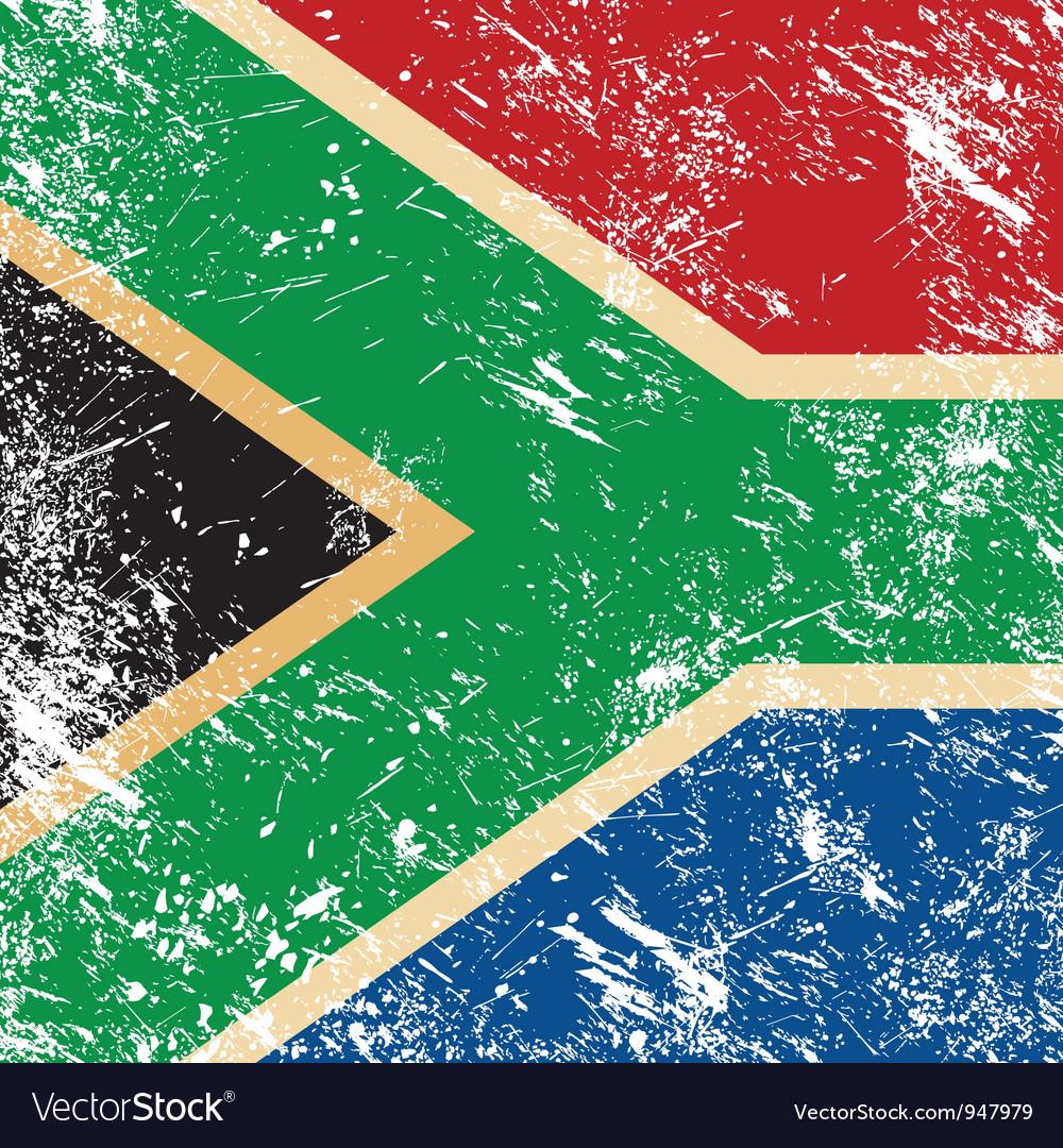 Republic of south africa retro flag vector | Price: 1 Credit (USD $1)