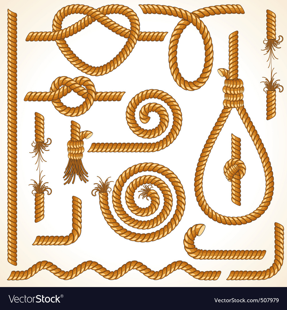 Rope elements vector | Price: 1 Credit (USD $1)