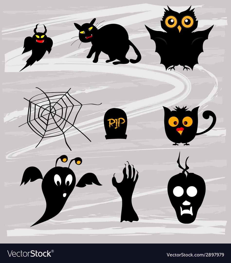 Set halloween vector | Price: 1 Credit (USD $1)