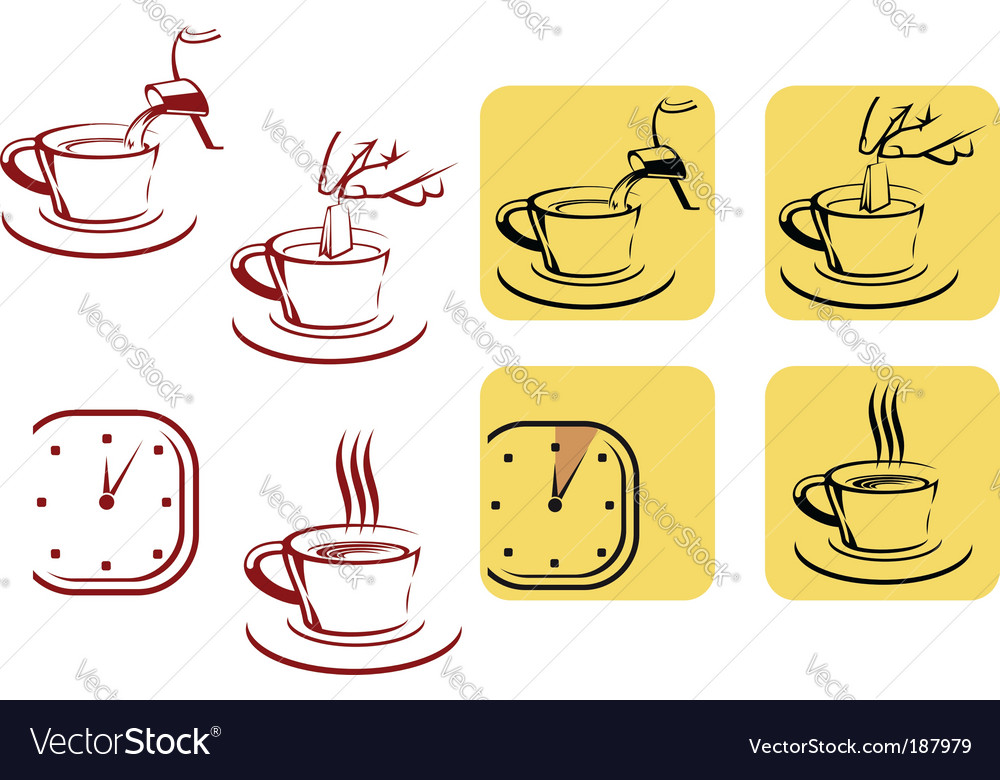 Tea preparation vector | Price: 1 Credit (USD $1)