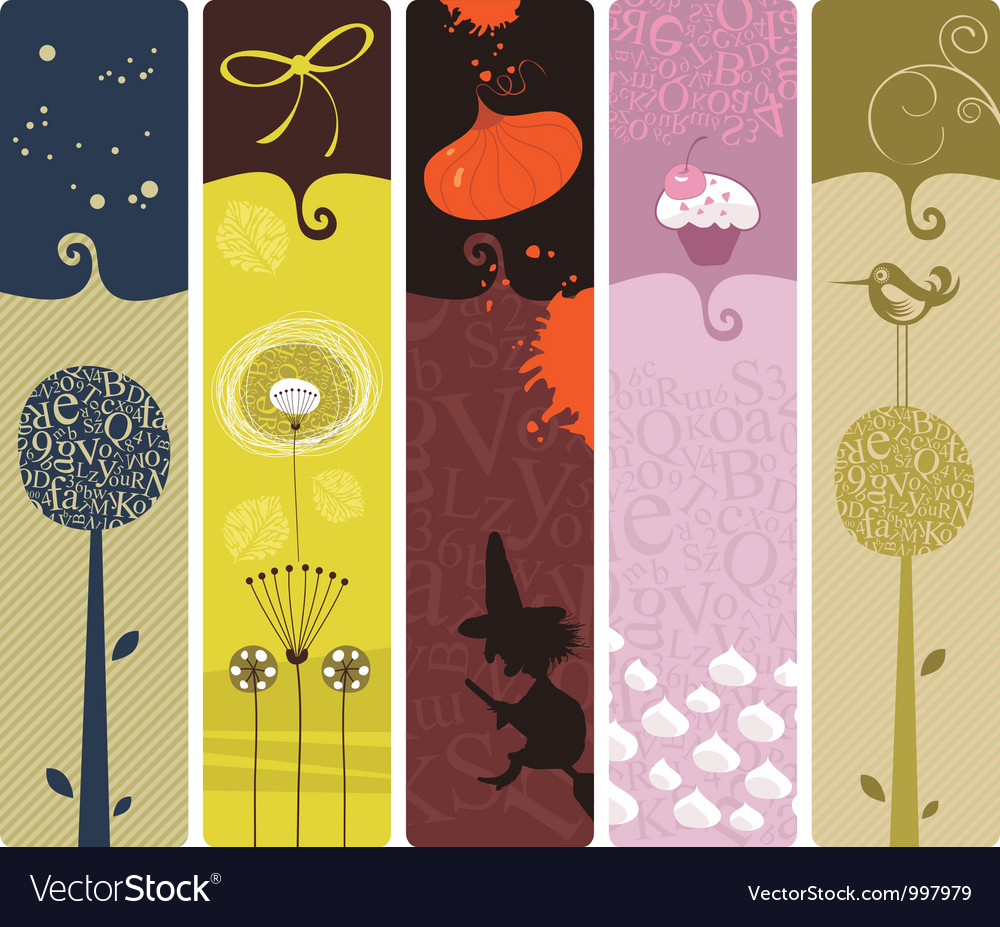 Various bookmarks vector | Price: 3 Credit (USD $3)