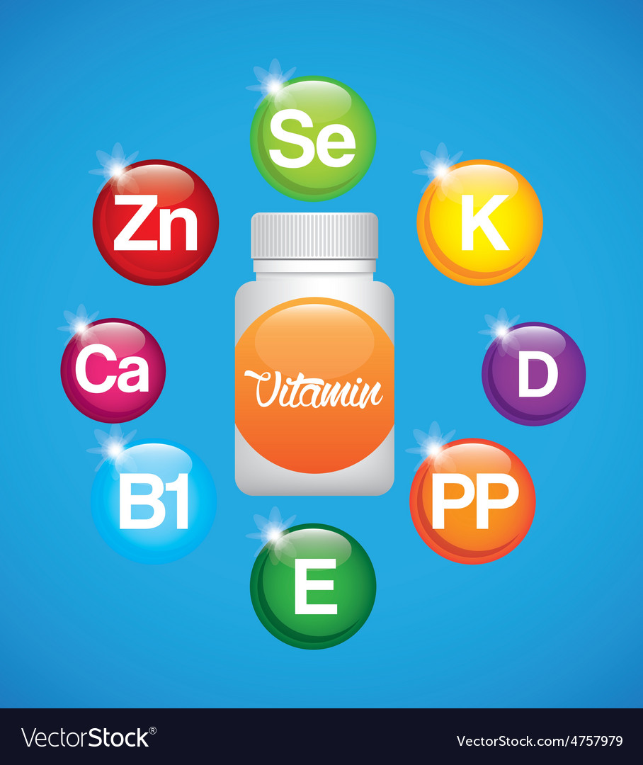 Vitamins and suplements vector | Price: 1 Credit (USD $1)