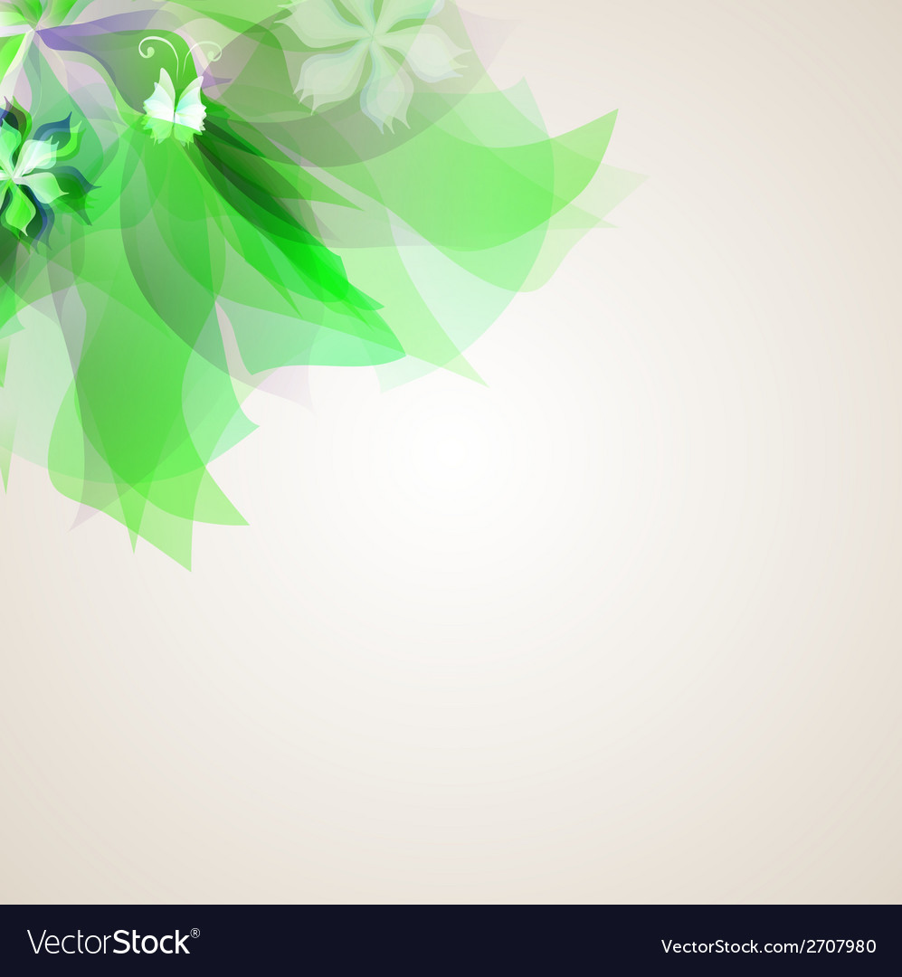 Abstract artistic background with green floral vector | Price: 1 Credit (USD $1)