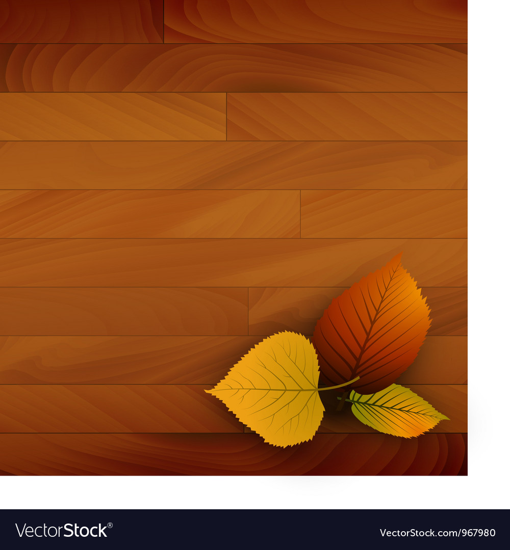 Autumn wooden background vector | Price: 1 Credit (USD $1)