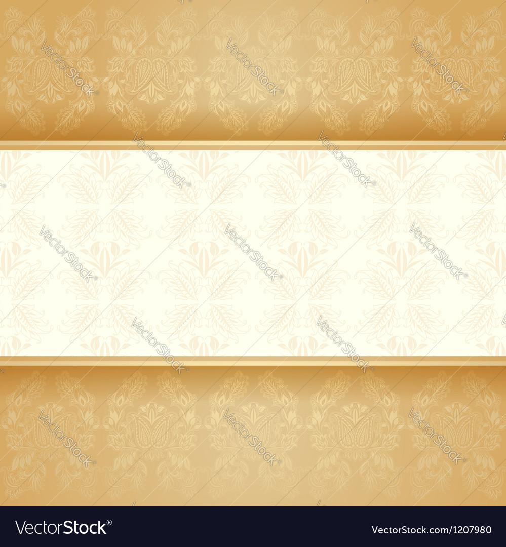 Background golden decorative vector | Price: 1 Credit (USD $1)