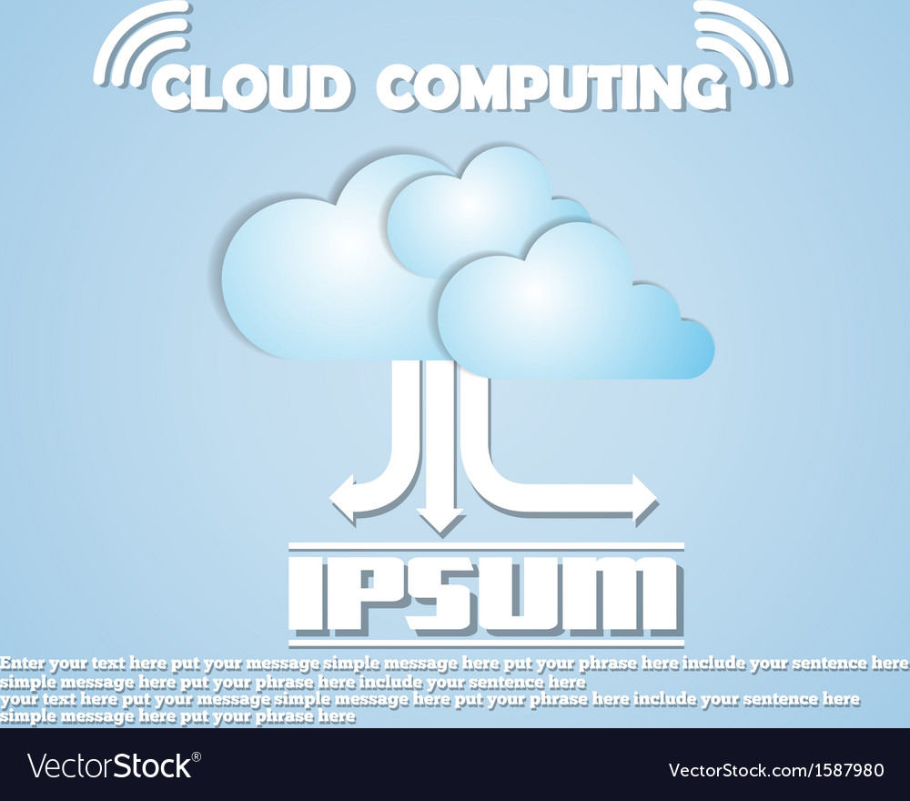 Cloud computing new collections vector | Price: 1 Credit (USD $1)