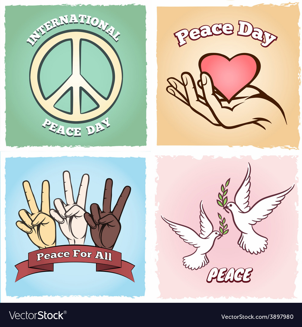 Day of peace posters vector | Price: 1 Credit (USD $1)