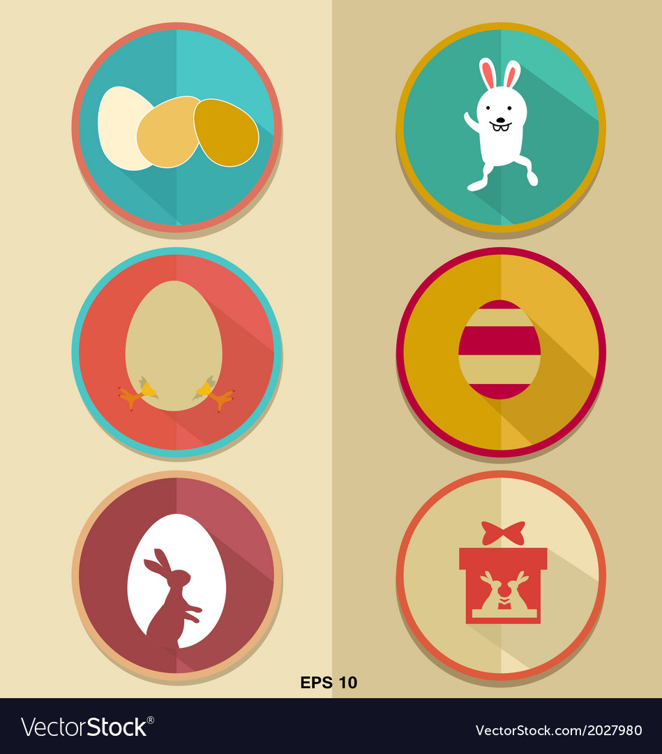 Happy easter icon vector | Price: 1 Credit (USD $1)