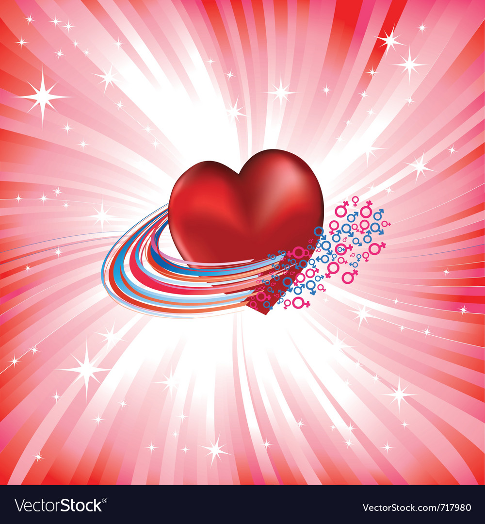 Heart love card vector | Price: 1 Credit (USD $1)